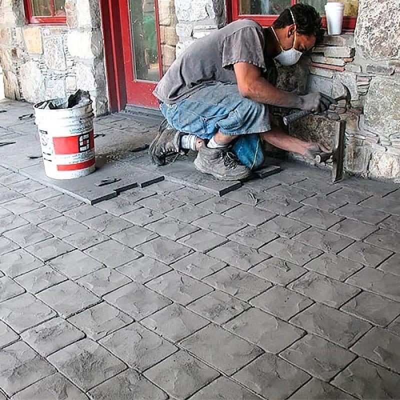 большинства фото работ со штампом по бетону всём том, многое