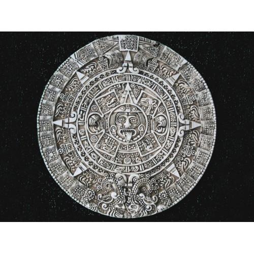 Декоративное гипсовое панно Календарь Майя