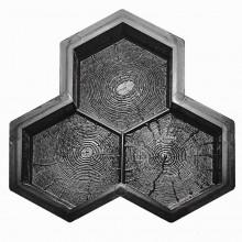 Форма для тротуарной плитки Соты дерево Т (40)