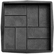 Форма для тротуарной плитки 8 кирпичей шагрень В