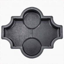 Форма для брусчатки Клевер рельеф шагрень В (45)
