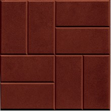 Тротуарная плитка 8 кирпичей 30 мм (коричневая)