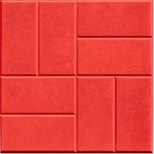 Тротуарная плитка 8 кирпичей 30 мм (красная)