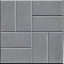 Тротуарная плитка 8 кирпичей 30 мм (серая)