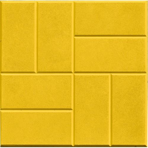 Тротуарная плитка 8 кирпичей 30 мм (желтая)