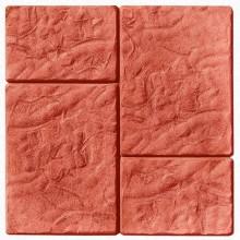Тротуарная плитка Брук-монолит 45 мм (красная)