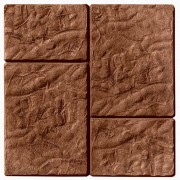 Тротуарная плитка Брук-монолит 45 мм (коричневая)