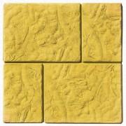 Тротуарная плитка Брук-монолит 45 мм (желтая)