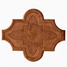 Брусчатка Клевер цветок  (коричневая)