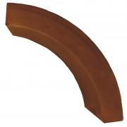 Бордюр радиусный (коричневый)