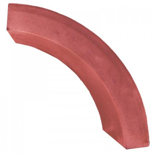 Бордюр радиусный (красный)