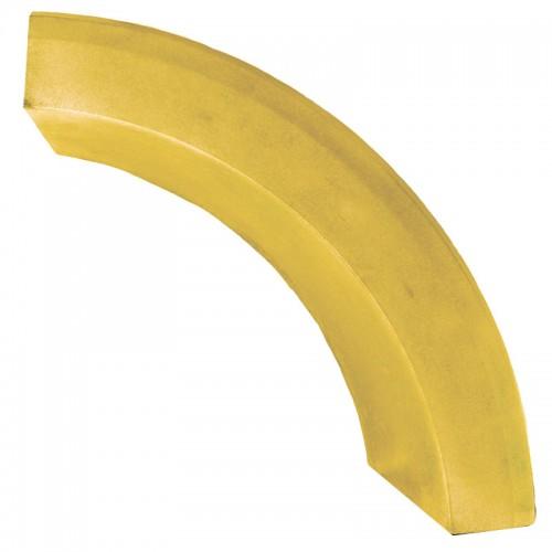 Бордюр радиусный (желтый)