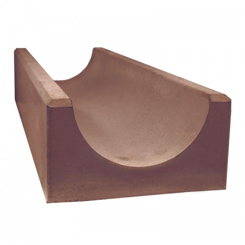 Лоток водоотводный глубокий (коричневый)