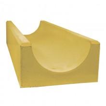 Лоток водоотводный глубокий (желтый)