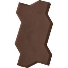 Тротуарная плитка Волна (коричневая)