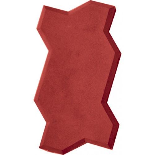 Тротуарная плитка Волна (красная)