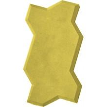 Тротуарная плитка Волна (желтая)