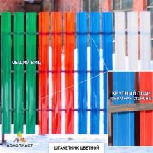 Цветной ПЭТ штакетник 1220х100х1