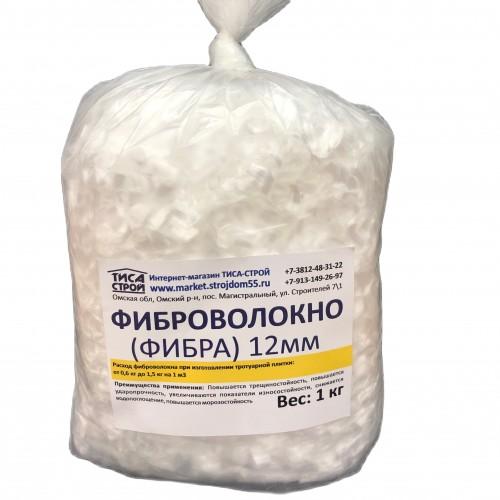 Полипропиленовое микроволокно (фибра) , 1 кг.
